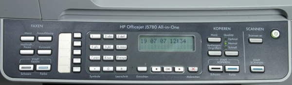 HP Officejet J5780: Exemplary simple handling - a preview display is missing.