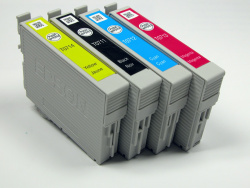 Ink cartridges: Four with very little ink...