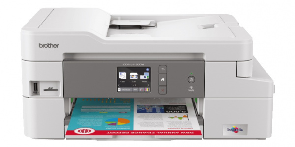 Brother DCP-J1100DW: 3-in1-Modell ohne Fax und ohne Ethernet.