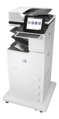 "HP Color Laserjet Enterprise Flow MFP M681z: 47-ipm-Modell mit 4 Kassetten und ""Flow""-Funktion."
