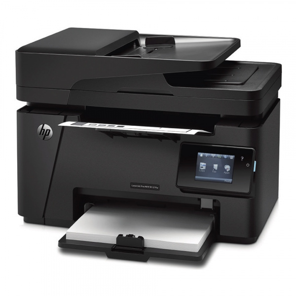 HP LJ Pro MFP M127fw: Topmodell mit Fax, ADF, Touchscreen, Ethernet und Wlan.