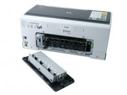HP Officejet Pro K5400: Space for an optional duplexer.