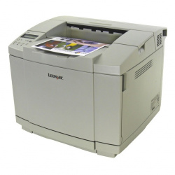 Lexmark C500n: Fastest B/W-printer in this test, with grave limitations.