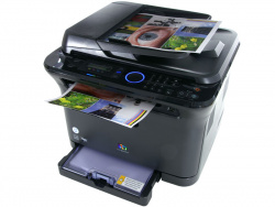 Samsung CLX-3175FW: Copying via feed or flatbed scanner.